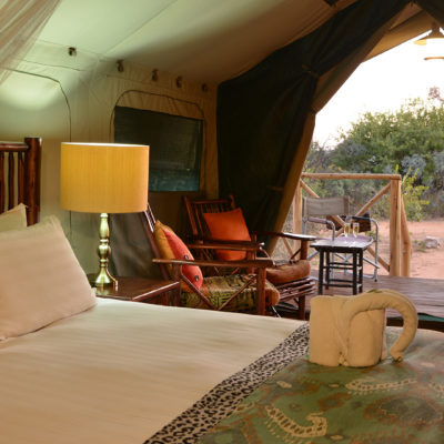 Kwafubesi Tented Camp bed