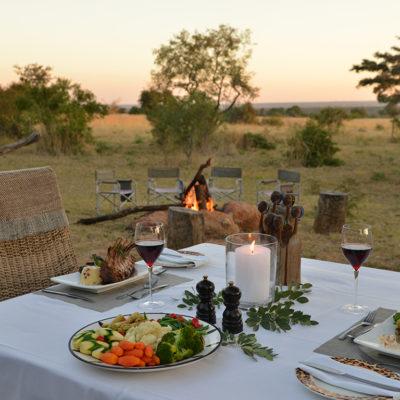 Kwafubesi Tented Camp dining