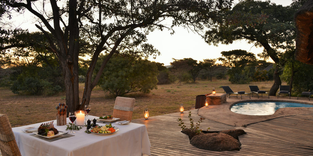 Kwafubesi Tented Camp pool and dining