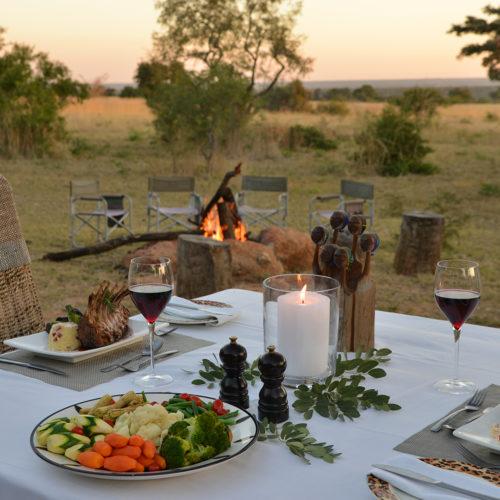 Kwafubesi Tented Safari Dining setup
