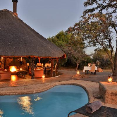 Kwafubesi Tented Safari pool and dining area