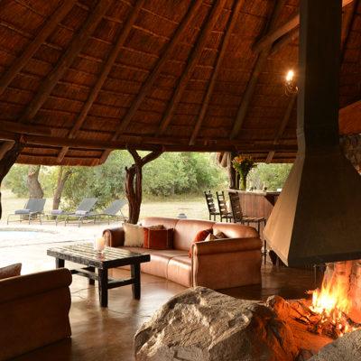Kwafubesi Tented Camp main lounge