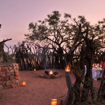 Kwafubesi Tented Safari Boma outdoor dining